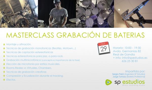 Masterclass Grabación Baterias con Jorge Tortosa